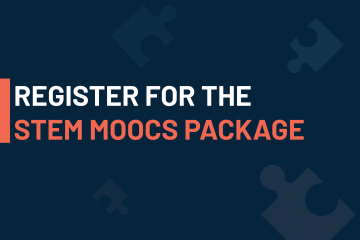 visual promoting the STEM MOOCs package: free online courses provided by European Schoolnet Academy