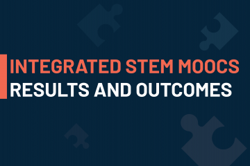 visual announcing the publication of an article for the integrated STEM teaching MOOCs results and outcomes